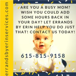 Help for busy moms Nashville - Errands By Erin